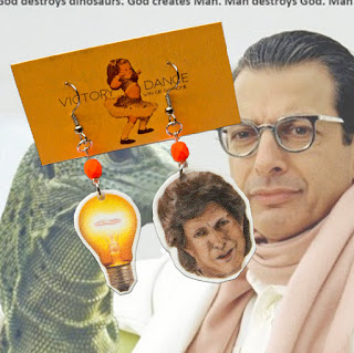 Jeff Goldblum Enhance Your Lighting Earrings :: Super Crappy White Elephant Gifts 2015