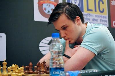Robin Van Kampen (2641) des Pays-Bas a joué une superbe partie ronde 1 - Photo © Amruta Mokal