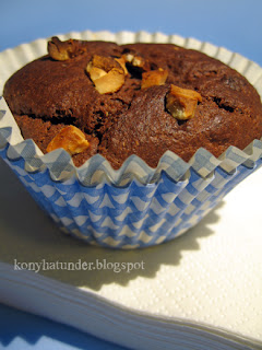 cocoa-yogurt-banana-muffin