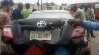Armed Robbers Attacked Government Car Carrying Huge Money In Akwa Ibom [Photos]