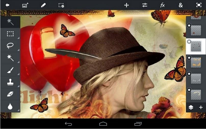Adobe Photoshop Touch, aplikasi editor foto Android berbayar