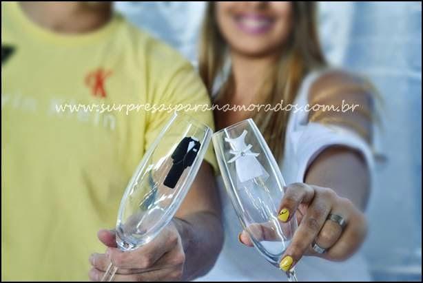 taças personalizadas de noivado