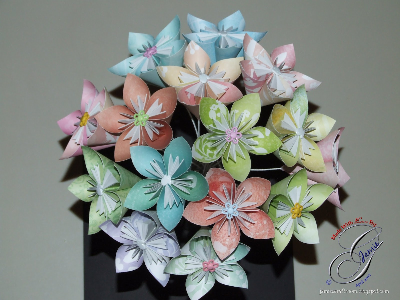Jamies Craft Room Kusudama Flower Bouquet Assembly