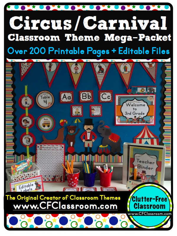 Classroom Decoration Ideas For St Grade ~ Clutter free classroom carnival and circus themed classrooms