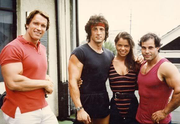 OLYMPIA-ARNOLD SYLVESTER Arnold Schwarzenegger Vs Dwayne Johnson