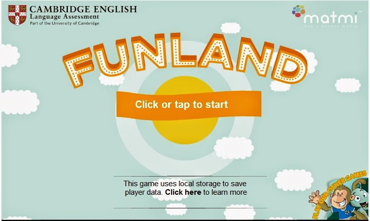 http://www.cambridgeenglish.org/learning-english/games-social/funland/