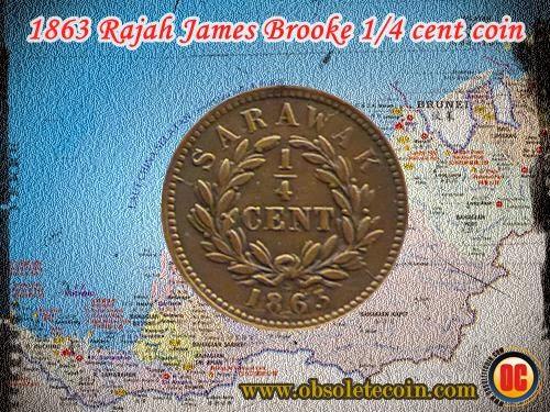 1863 Sarawak coin