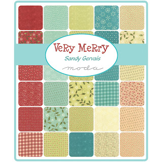 Moda VERY MERRY Fabric by Sandy Gervais for Moda Fabrics