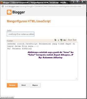 JavaScript Blog Susah Di hapus