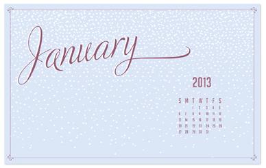 Let It Snow January Wallpaper - Digital Download