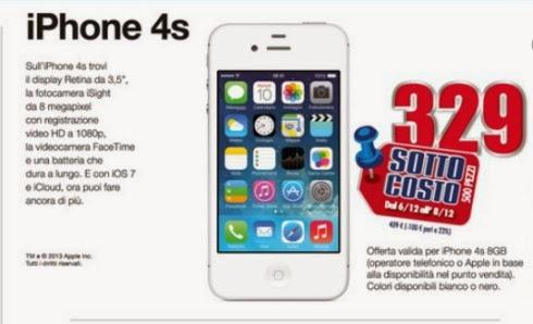 Da Trony per 3 giorni prima di natale 2013 troverete l'iPhone 4S 8GB a soli 329 euro