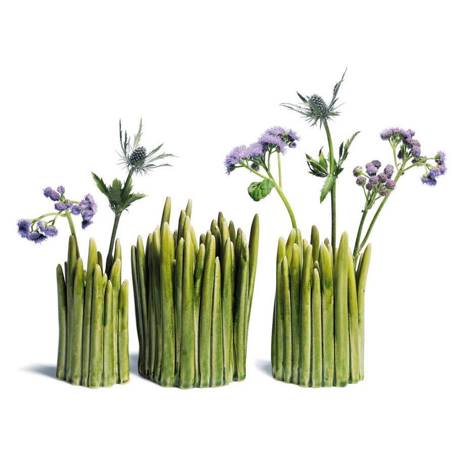 Modern Interior Design GRASS Modern Flower Vase Green Normann Copenhage