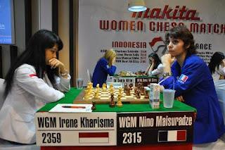 Nino Maisuradze (2315) 0-1 Irine Kharisma Sukandar (2359) © Chessdom