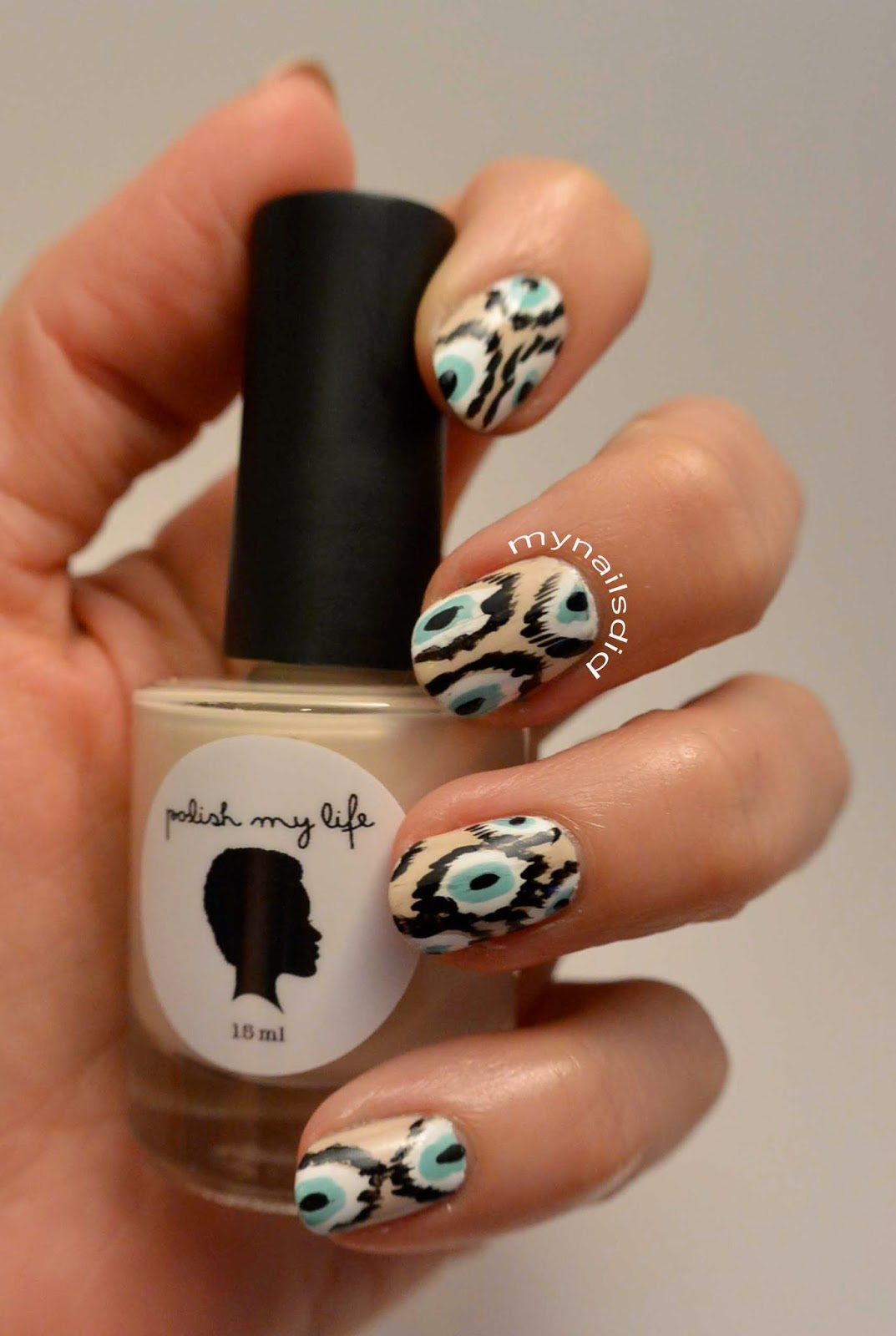 My Nails Did: Ikat Print Mani