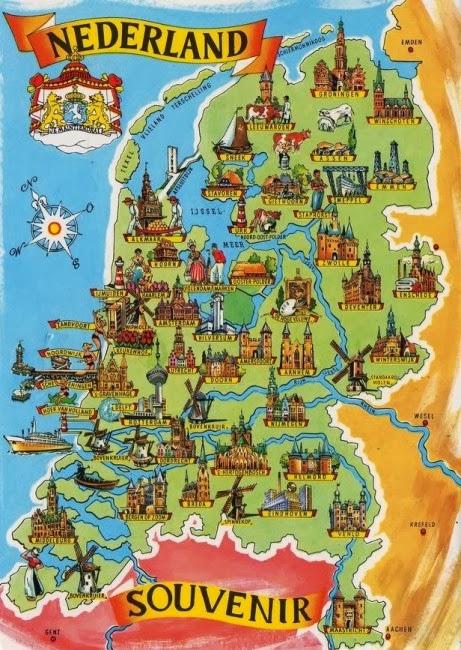 Nederland map