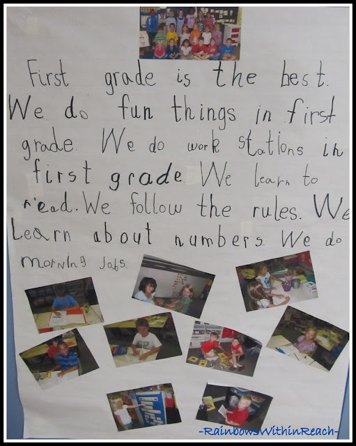 photo of: First Grade Impressions, Insight and Opportunities: Handwritten Class Rules