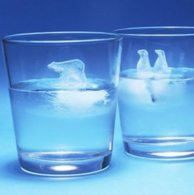 polar bear and penguin ice block molds