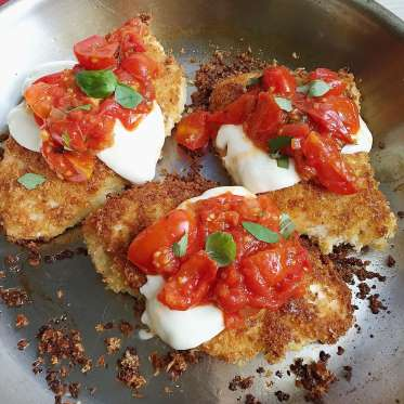 Good foodie crispy chicken parm for Easy things to make for dinner for two