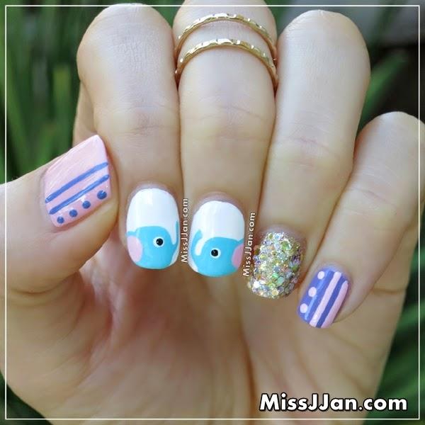 Missjjan S Beauty Blog Elephant Nail Art
