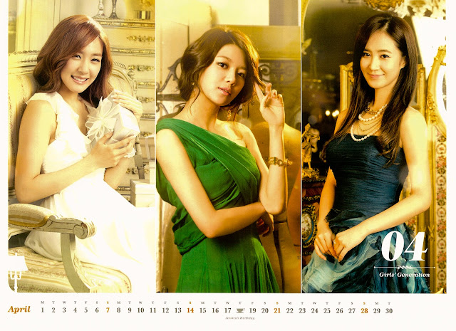 SNSD Girls Generation Calendar 2013 wallpaper