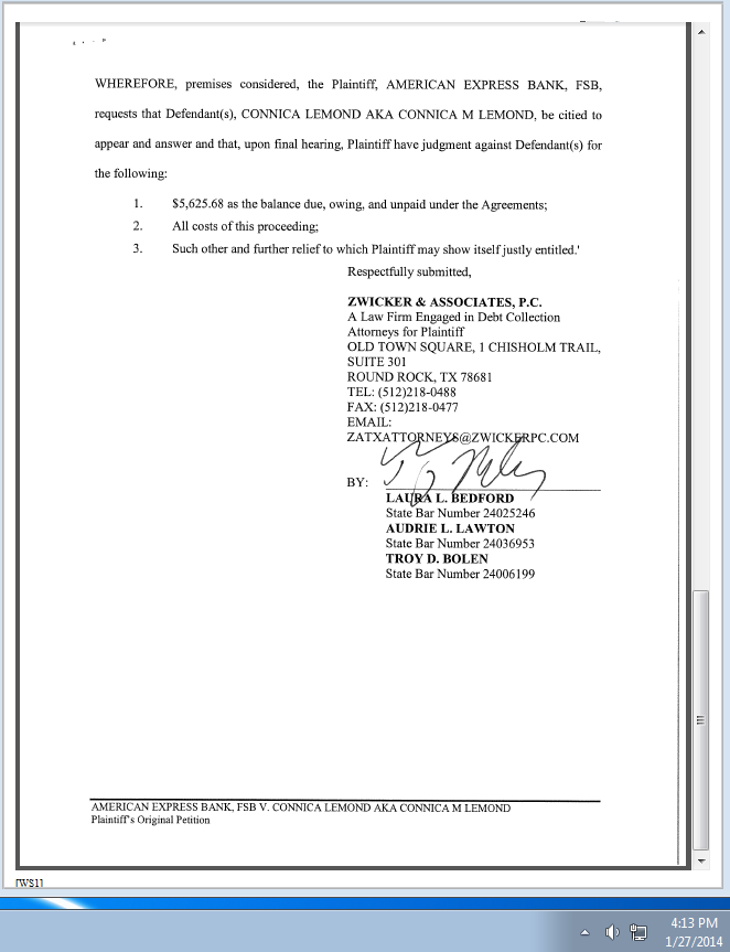 Consumer Debt Litigation Mostly Texas Troy Bolen