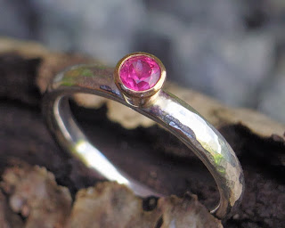 Glasswing fairtrade ruby engagement ring