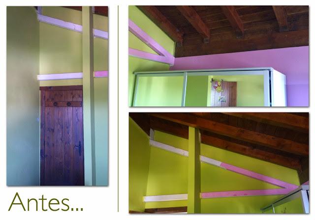 Reforma dormitorio Laura Ashley infantil - antes