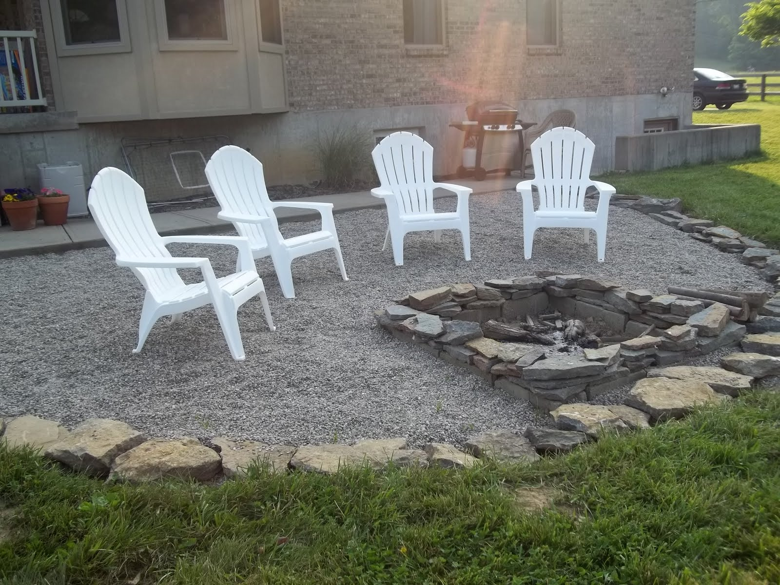 BlessedBe s Backyard Patio and Fire Pit