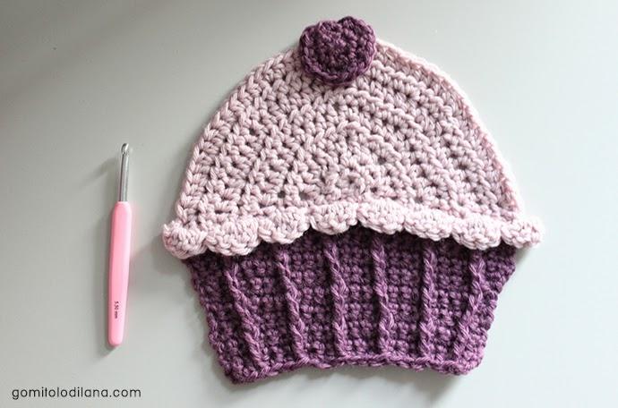cupcake uncinetto crochet con uncinetto knitpro rosa bellissimo