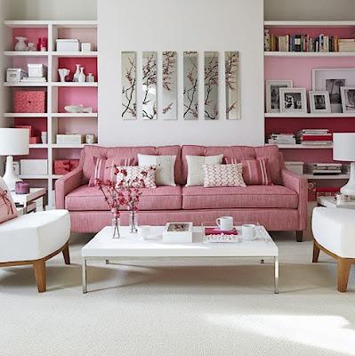 diseno sala en rosa
