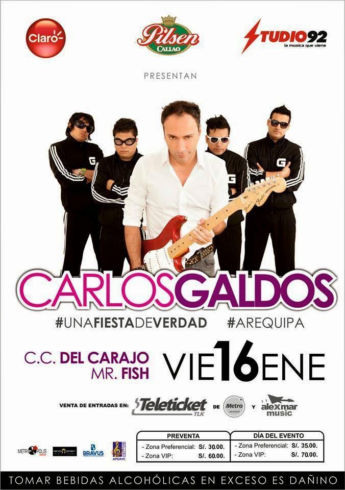 Carlos Galdos en Arequipa - 16 de enero