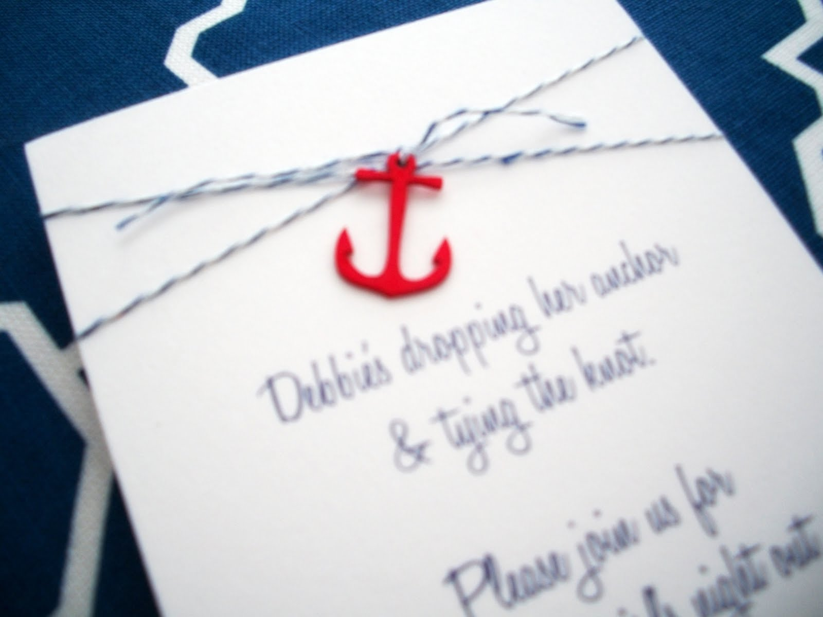 Monogram Wedding Invitations Nautical Wedding Invitations