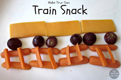 Healthy Snack for Kids with Train Theme