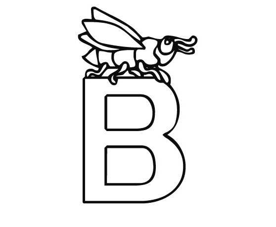 coloring pages letter b - photo#26