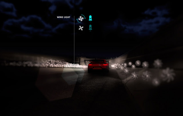 intelligent automated highway wind light systems