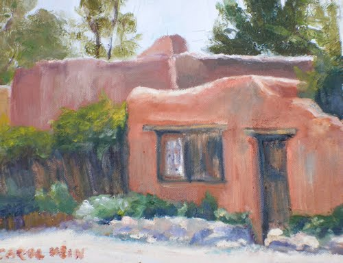 Daily painters of colorado santa fe adobe contemporary landscape paintings landscape art - An artists home ...