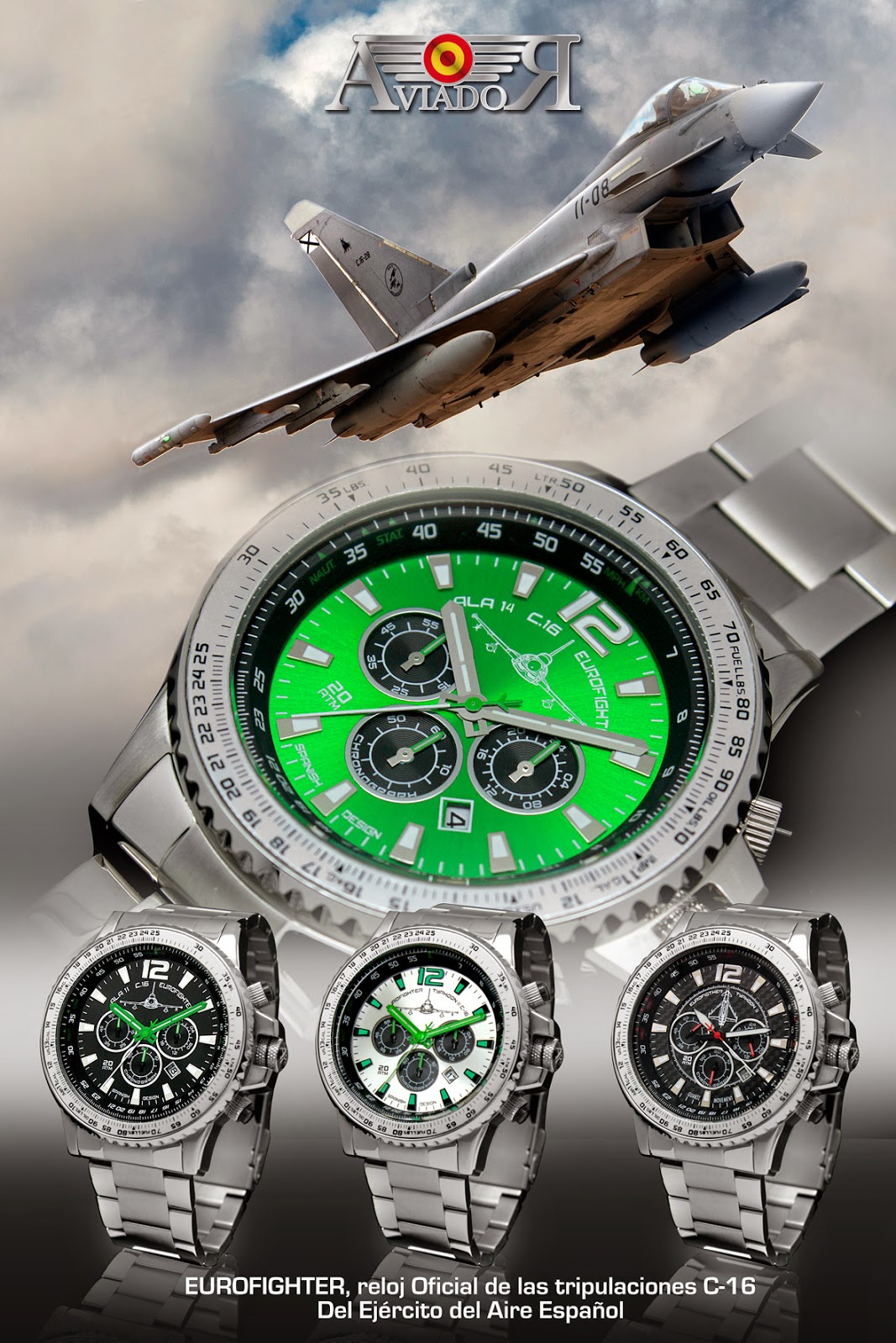 Aviador, Aviador Watch, Complementos, cronógrafo, Ejército del Aire, EuroFighter, lifestyle, menswear, relojes, Suits and Shirts, watches,