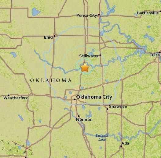 Magnitude 3.9 Earthquake of Langston, Oklahoma 2015-04-17