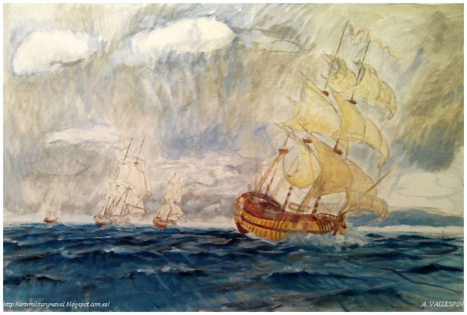 Pintura naval La Carrera del Glorioso 3