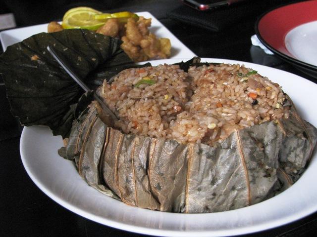 lotus rice in Boracay, best Boracay restaurant, Boracay chinese restaurant, Bamboo lounge Boracay