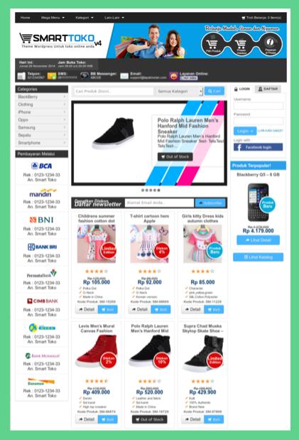 Template toko online berbahasa Indonesia