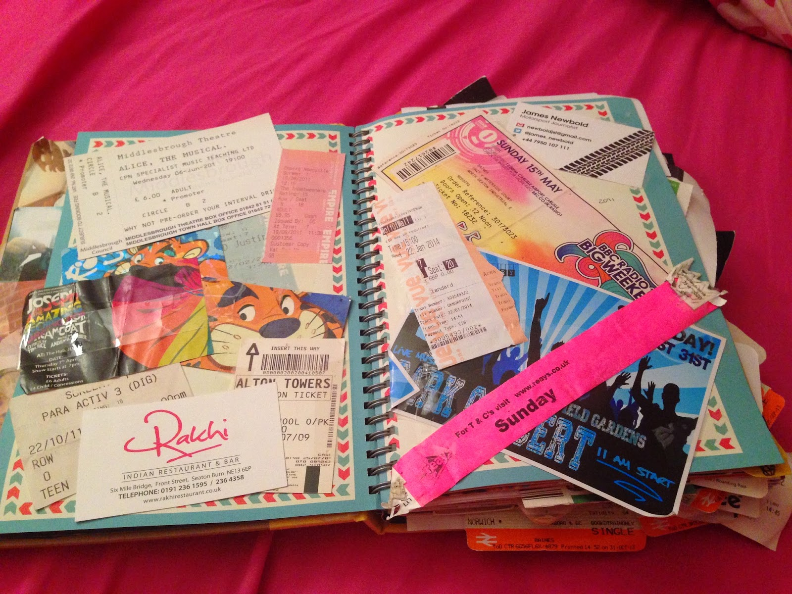 Justin bieber scrapbook ideas -  Including The Musical My Cousin Was In Haven Holiday Park Passes To Get Into The Activities Centre Thing Cinema Tickets For The Justin Bieber Movie