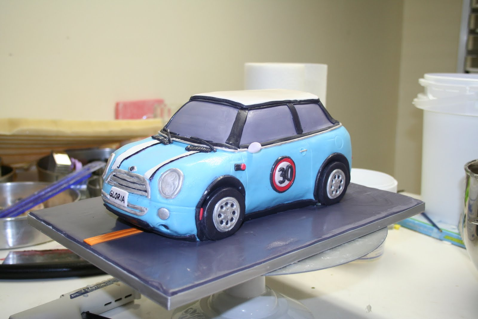 MINI car cake Kathy Dvorski Cakes