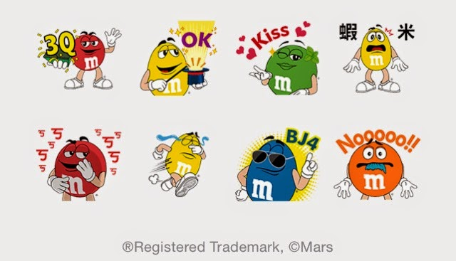 Irresistable M&M's with LINE sticker