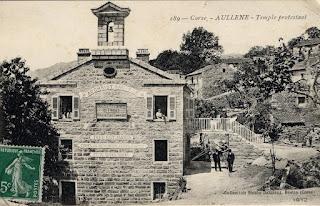 temple protestant à Aullène en Corse du Sud