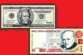Equivalencia entre dólar y sol peruano