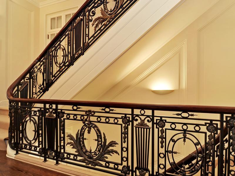 Old world gothic and victorian interior design for Interior iron railing designs