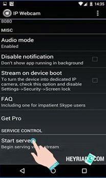 Cara Menggunakan IP Webcam Di Android