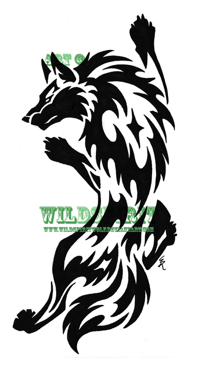 Tribal wolf tattoo best farel template for Tribal wolf tattoo