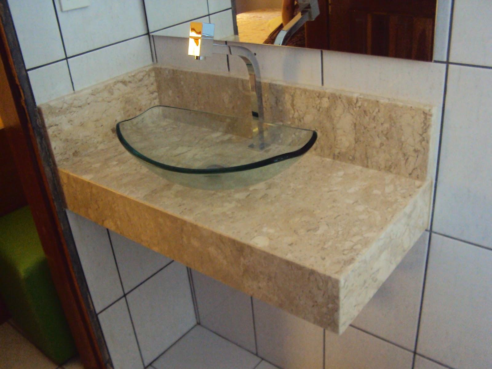 Lindo Lavatório em Mármore Bege Bahia combinação perfeita com cuba  #68492D 1600x1200 Banheiro Bancada Bege Bahia
